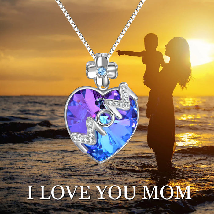 Best Mother's Gift with Swarovski Crystals Heart