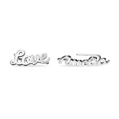 925 Sterling Silver Personalized Name Earrings