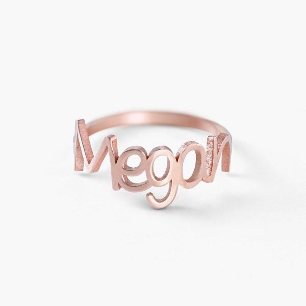 Copper/925 Sterling Silver Personalized Names Ring