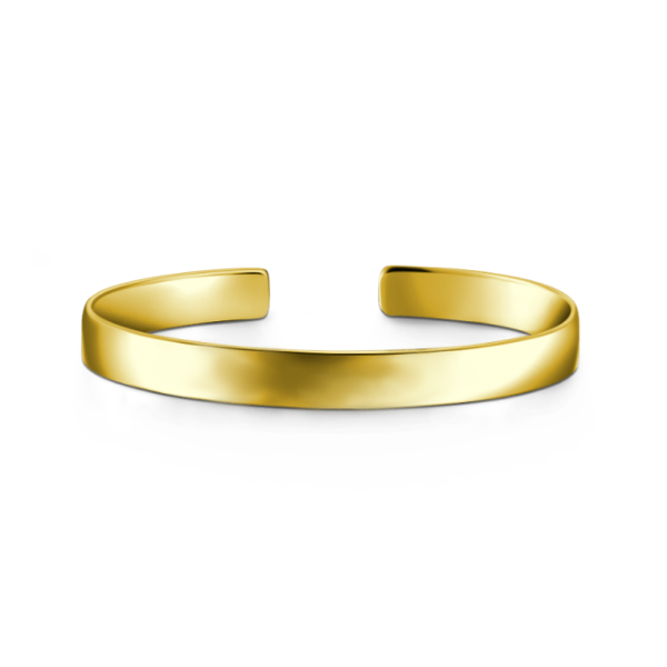 14K Gold Personalized Engravable Bangle-Medium