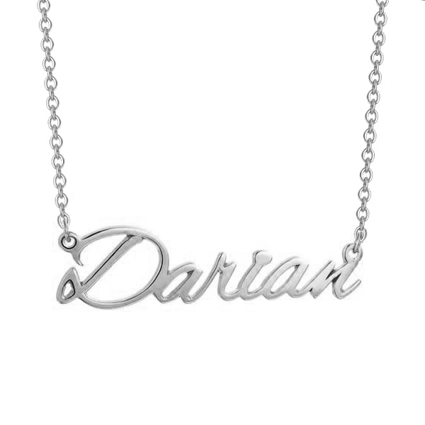 "Darian - 925 Sterling Silver/10K/14K/18K Custom Name Necklace Adjustable 16""-20"" - Yellow Gold Plated"