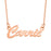 """Carrie""- Copper/925 Sterling Silver Personalized Name Necklaces Adjustable Chain 16""-20"""