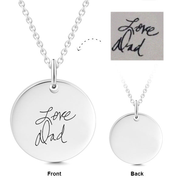 Personalized Engraved Your Name Necklace in Sterling Silver