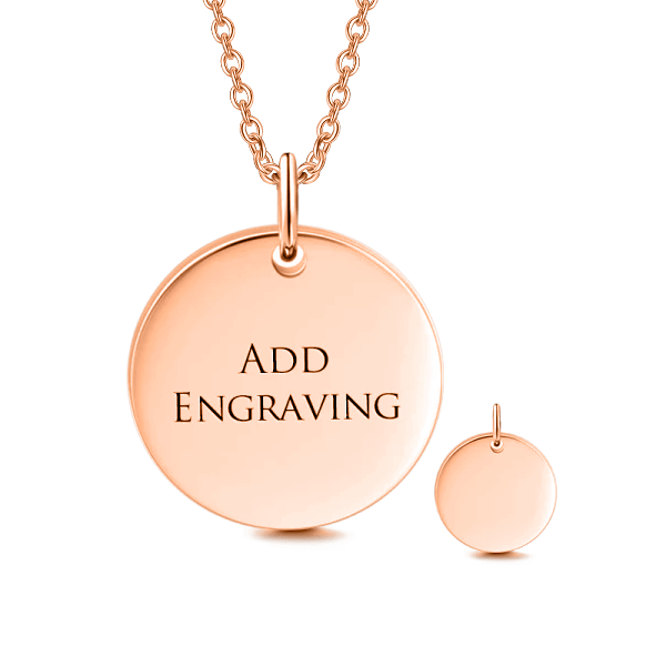 "14K Gold Personalized Engravable Hang Tag Necklace Adjustable 16""-20"""