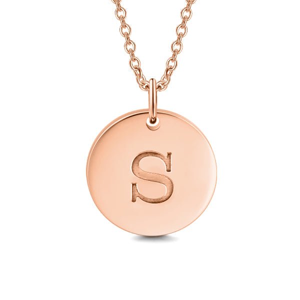 "'One In A Million' Copper/925 Sterling Silver Personalized Initial Pendant Necklace-Adjustable 16""-20"""