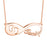 "Copper/925 Sterling Silver Personalized  Footprint Infinity Name Necklace-Adjustable 16""-20"""