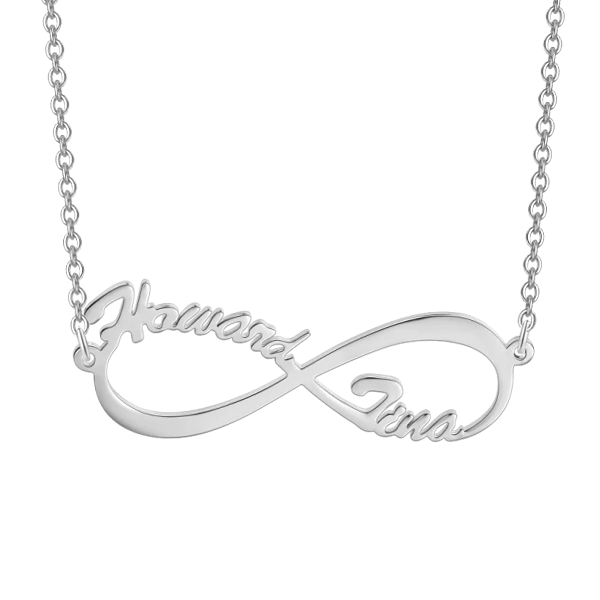 "Infinite Love - 10K/14K Personalized Gold Name Necklace Adjustable 16""-20""-White Gold/Yellow Gold/Rose Gold"