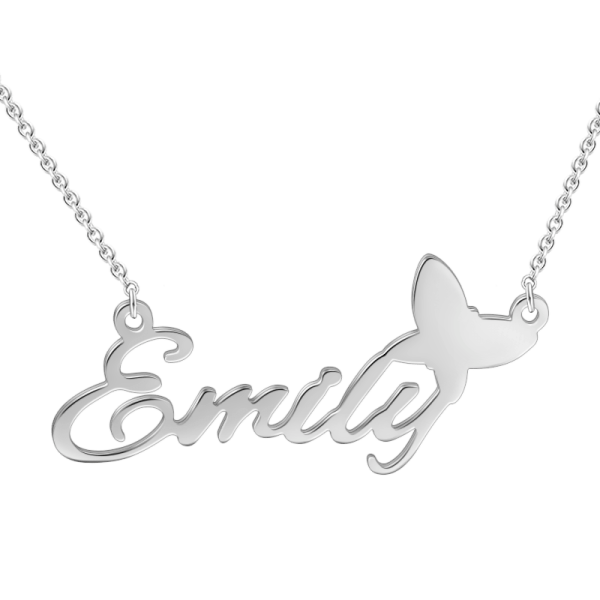 "14K Gold ""Adjustable 16""-20"" Emily""Style Personalized Name Necklace"