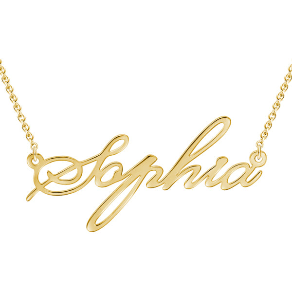 "9K/14K Gold Personalized Adjustable 16""-20"" Name Necklace"