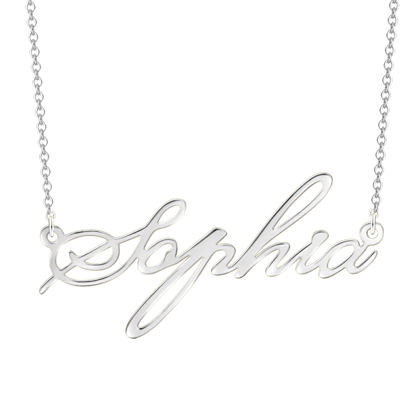 "Copper/925 Sterling Silver/10K/14K/18K Personalized Adjustable 16""-20"" Name Necklace"