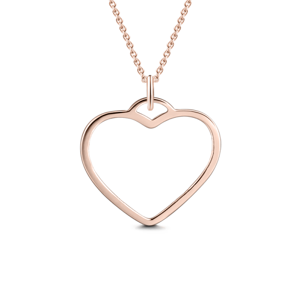 "Personalized 925 sterling silver Heart Name Adjustable 16""-20"""