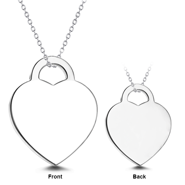 "Put You In My Heart - 14K Gold Personalized Engraved Photo Necklaces Adjustable 16""-20"""