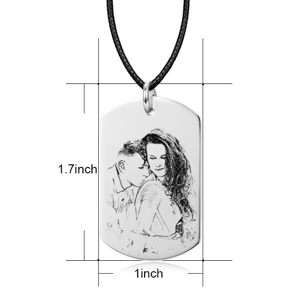 "Only You -10K/14K  Gold Personalized Engraved Photo Necklace Adjustable 16""-20""-White Gold/Yellow Gold/Rose Gold"