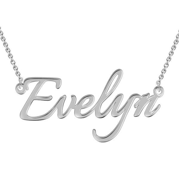 """Evelyn""Style 14K Gold Personalized Name Necklace Adjustable 16""-20""- White Gold /Yellow Gold/Rose Gold"