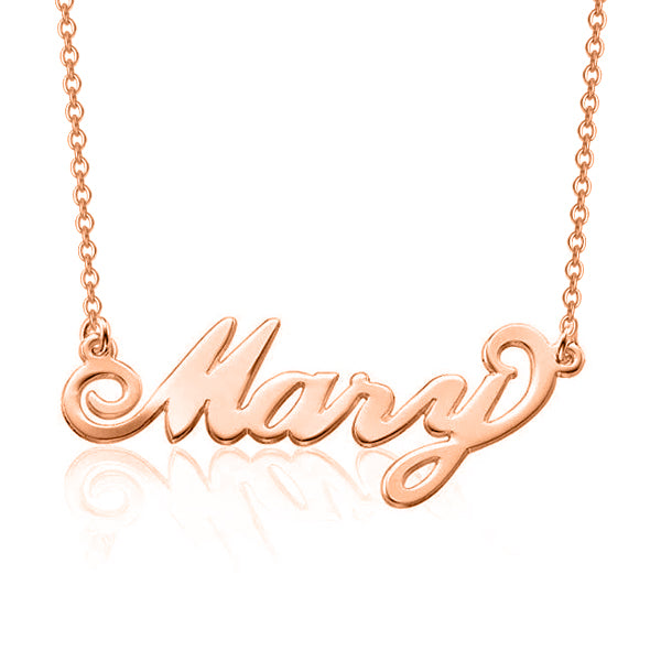 "Mary - 925 Sterling Silver Personalized Name Necklace Adjustable 16""-20"""