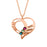 "925 Sterling Silver Personalized Birthstone Heart Name Necklace Adjustable 16""-20"""
