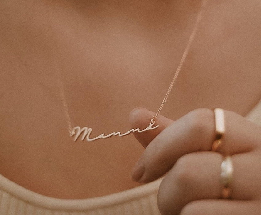 "Ariana - Signature Style Copper/925 Sterling Silver Personalized Name Necklace Adjustable 16""-20"""