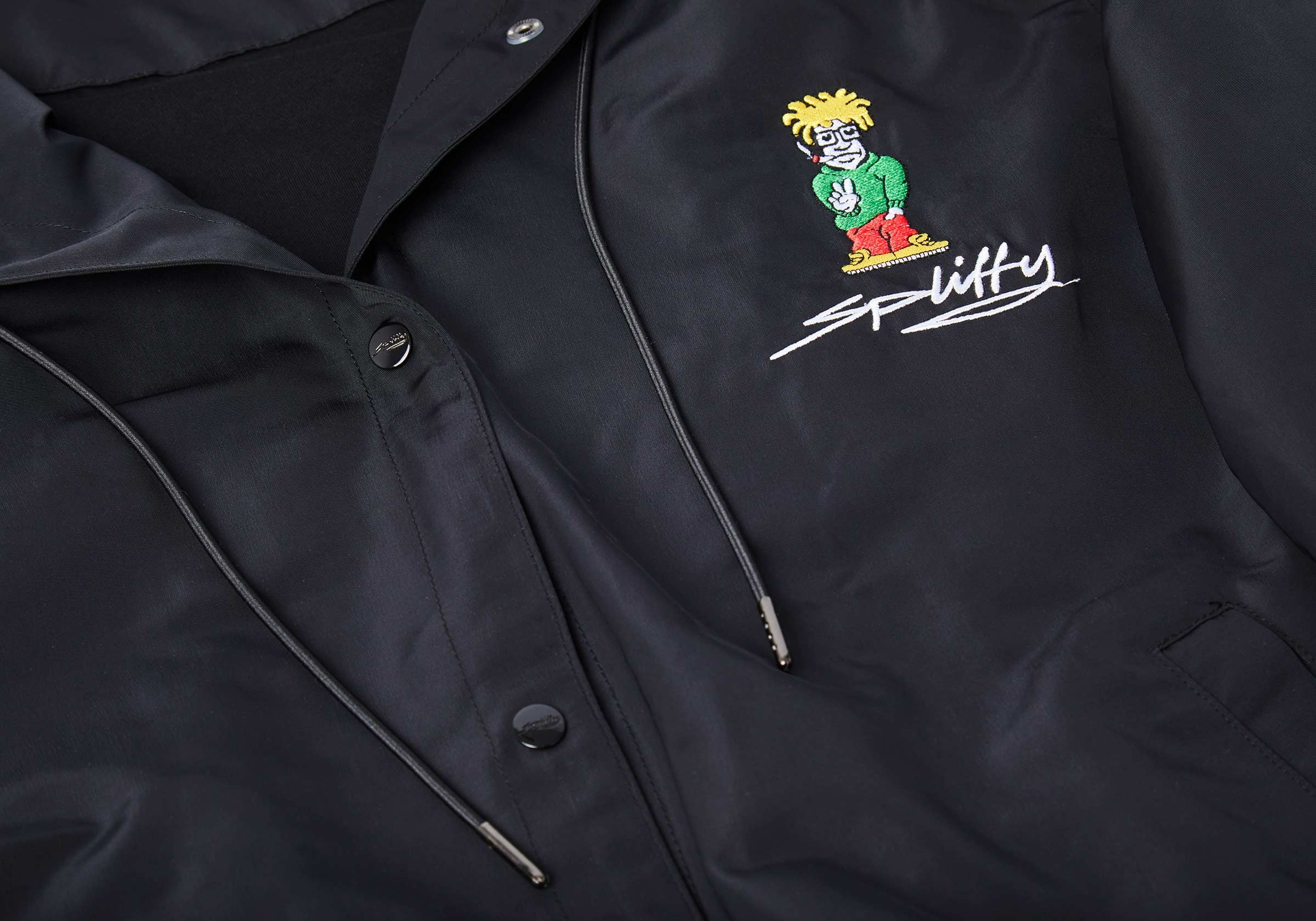 Spliffy Long Windbreaker