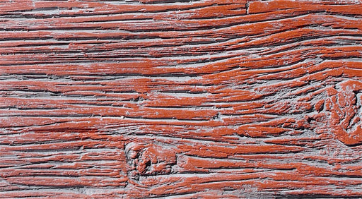 "FAUX BARN WOOD - 6""X48"" PANEL - BARN RED"