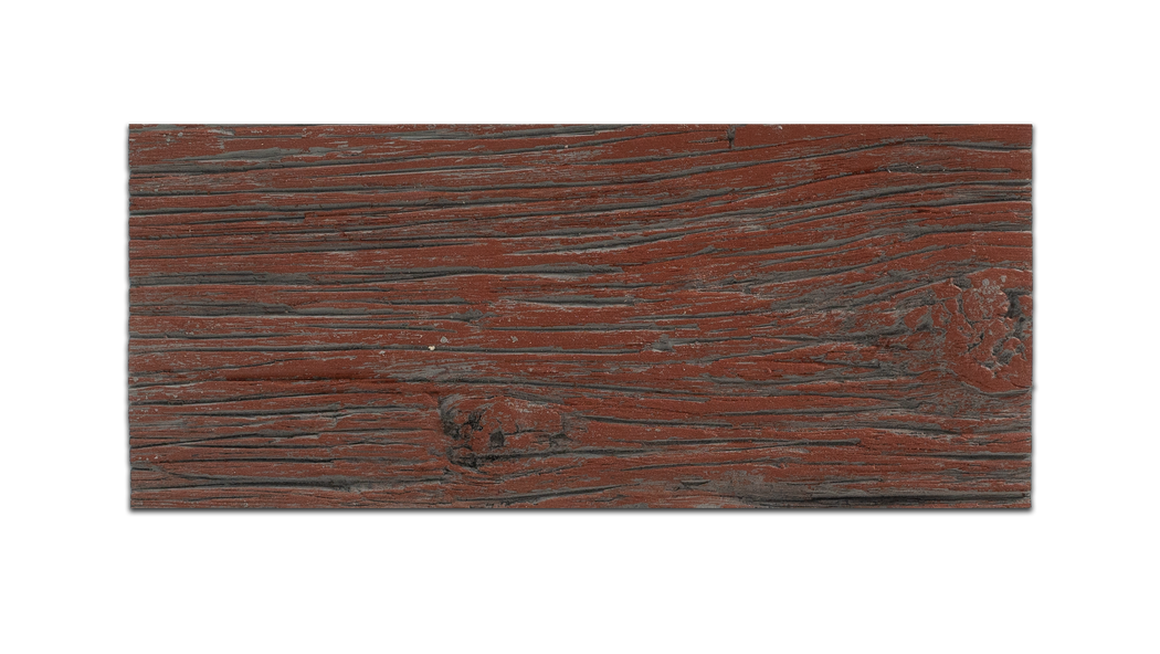 FAUX BARN WOOD -  BARN RED - SAMPLE