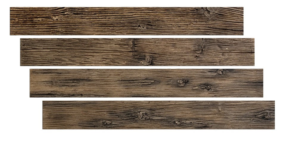 "FAUX BARN WOOD - 6""X48"" PANEL - WORN LEATHER"