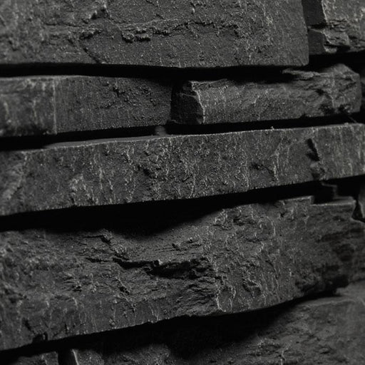 "STACKED STONE - 6X48"" PANEL - BLACK"