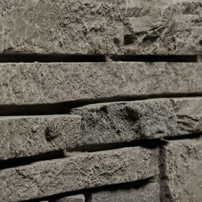 "STACKED STONE - 6X48"" PANEL - GREY"