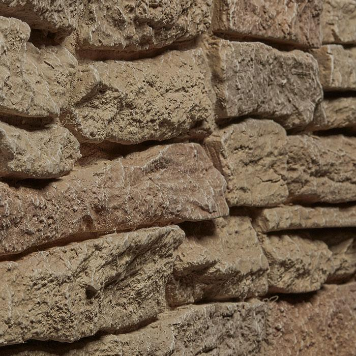 "RIDGE STONE - 11X46"" PANEL - LIGHT BROWN"