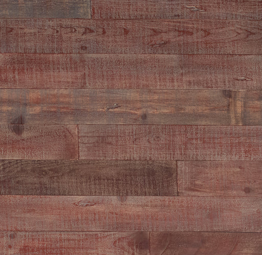 DISTRESSED WOOD WALL - RED-ISH