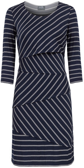 Milk Striped Nursing Dress
