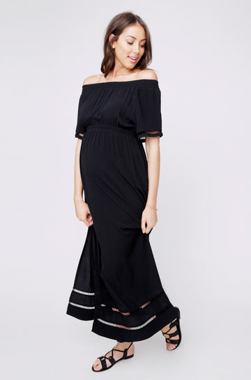 Ripe Cold Shoulder Maxi Dress