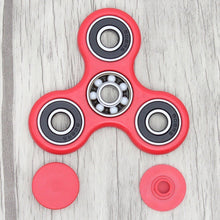 ***BRAND NEW FOR 2017 *** ORIGINAL *** FAST 1-4 MIN SPINS *** RED *** - Tri Fidget Hand Spinner Focus Desk Toy EDC ADHD Autism KIDS ADULT