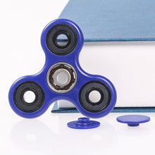 ***BRAND NEW FOR 2017 *** ORIGINAL *** FAST 1-4 MIN SPINS *** BLUE ***  - Tri Fidget Hand Spinner Focus Desk Toy EDC ADHD Autism KIDS ADULT