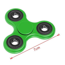 *** BRAND NEW FOR 2017 *** ORIGINAL *** FAST 1-4 MIN SPINS *** GREEN *** - Tri Fidget Hand Spinner Focus Desk Toy EDC ADHD Autism KIDS ADULT