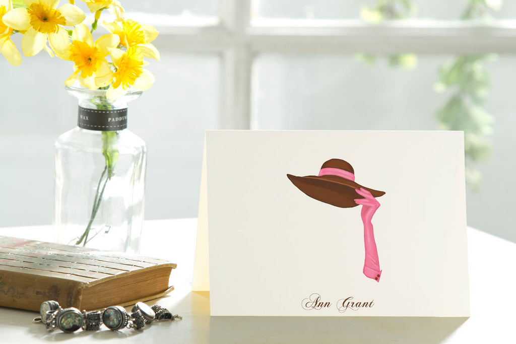 The Brown Hat - Set of 25 Personalized Note Cards