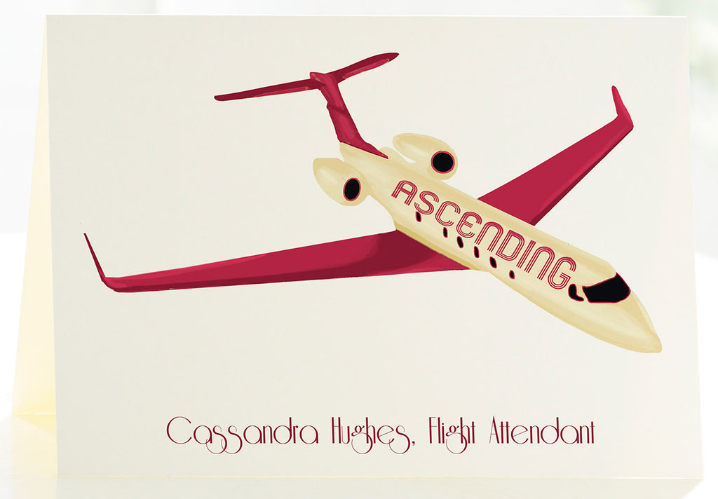 The Flight Attendant - Set of 50 Personalized Note Cards