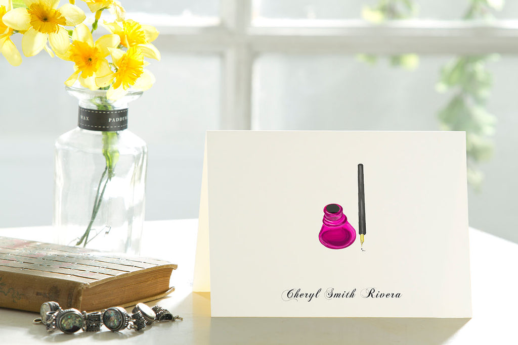 The Inkwell - Set of 50 Personalized Note Cards