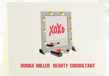 The Beauty Consultant - Set of 50 Personalized Note Cards