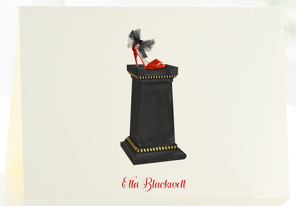 The Pedestal & Stiletto - Set of 25 Personalized Note Cards