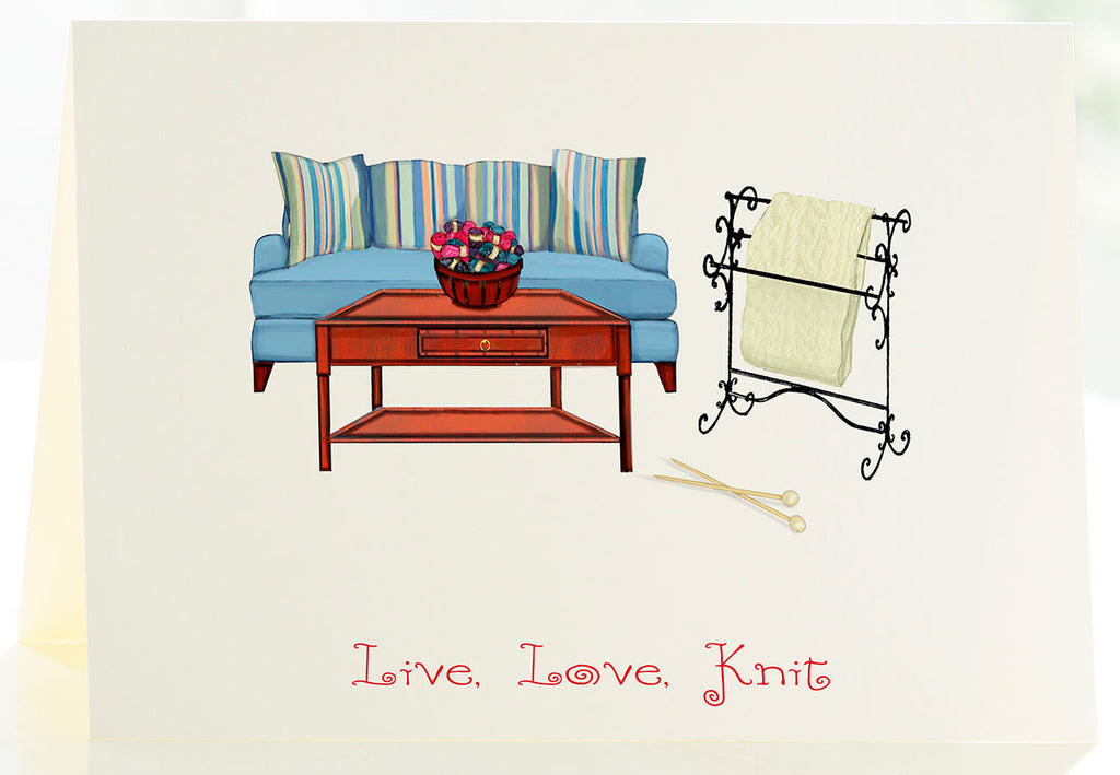 Live, Love, Knit - Set of 6 cards