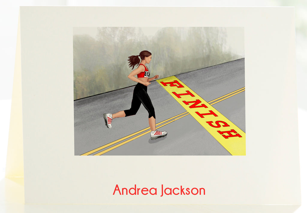 The Runner - Set of 25 Personalized Note Cards
