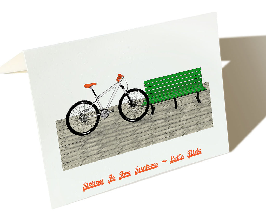 Sitting Is For Suckers, Let's Ride - Set of 6 Cards