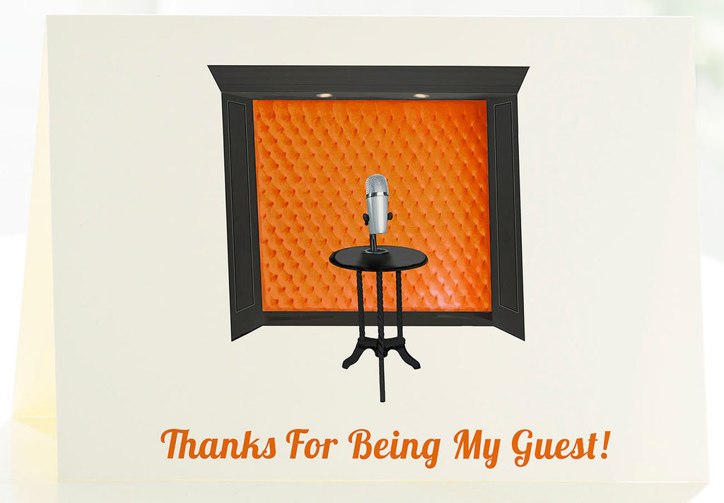 The Podcaster - Set of 50 Personalized Note Cards