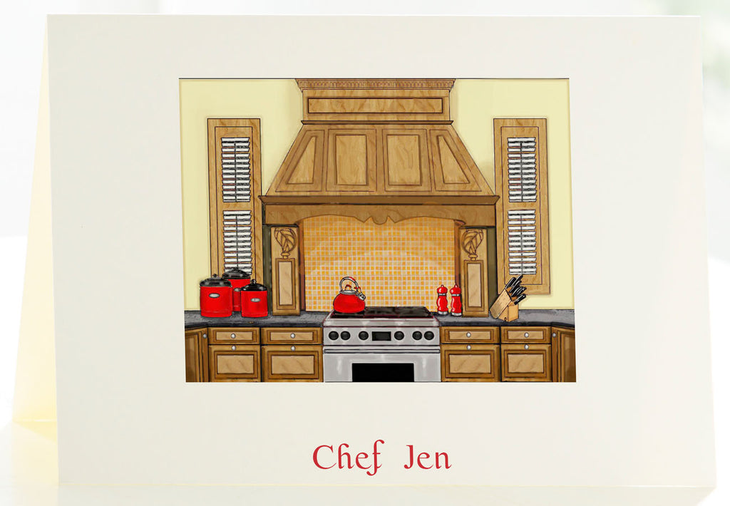 The Chef - Set of 50 Personalized Note Cards