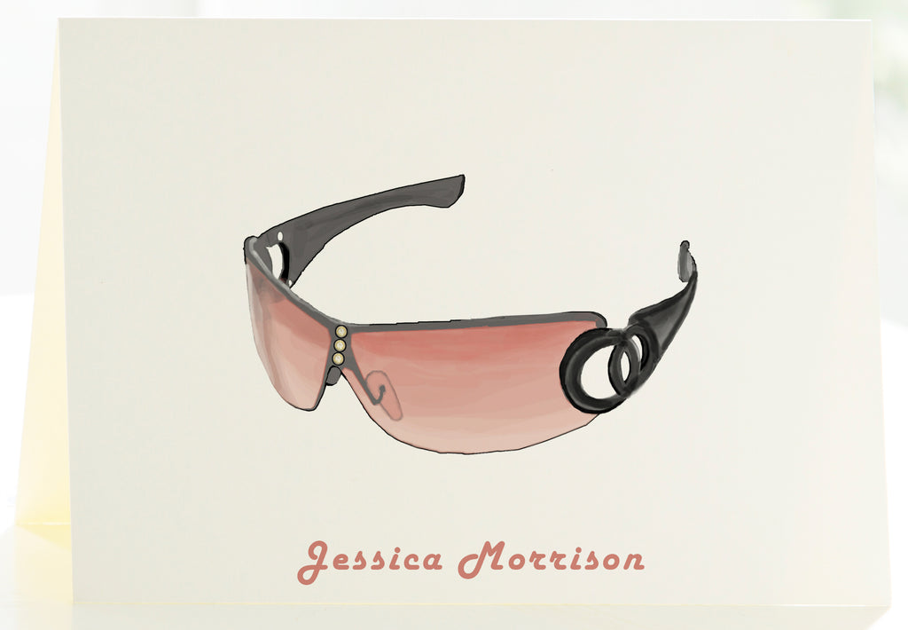 Sunglasses - Set of 25 Personalized Note Cards