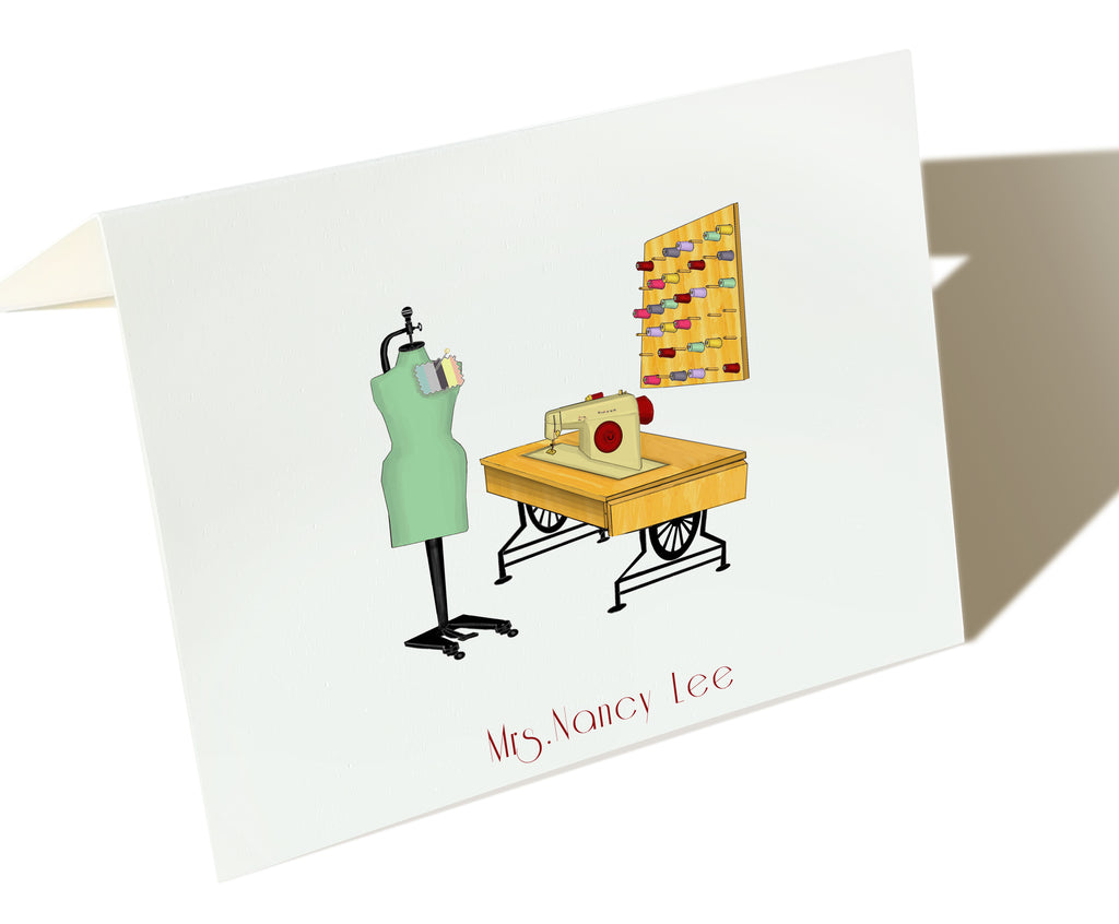 The Tailor - Set of 25 Personalized Note Cards