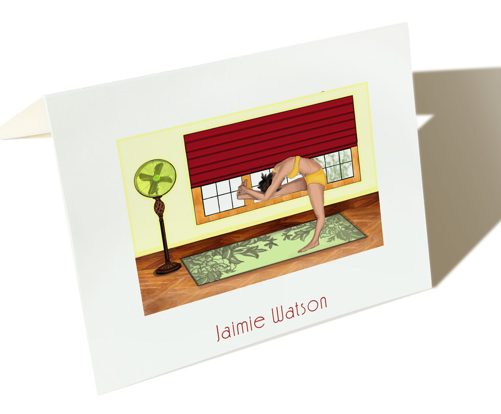 The Yogi - Set of 25 Personalized Note Cards