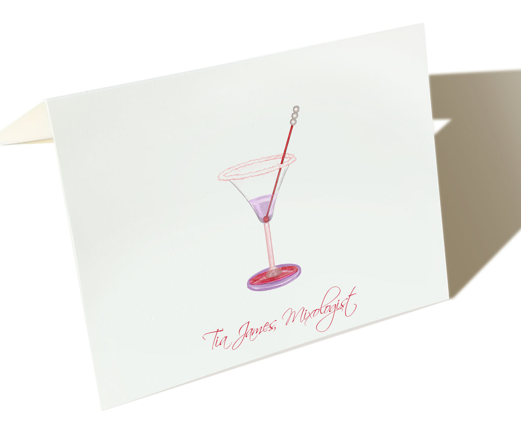 The Mixologist - Set of 50 Personalized Note Cards