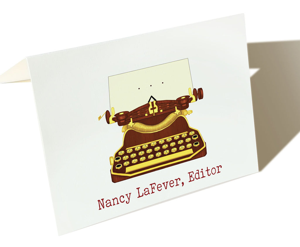 The Editor - Set of 50 Personalized Note Cards