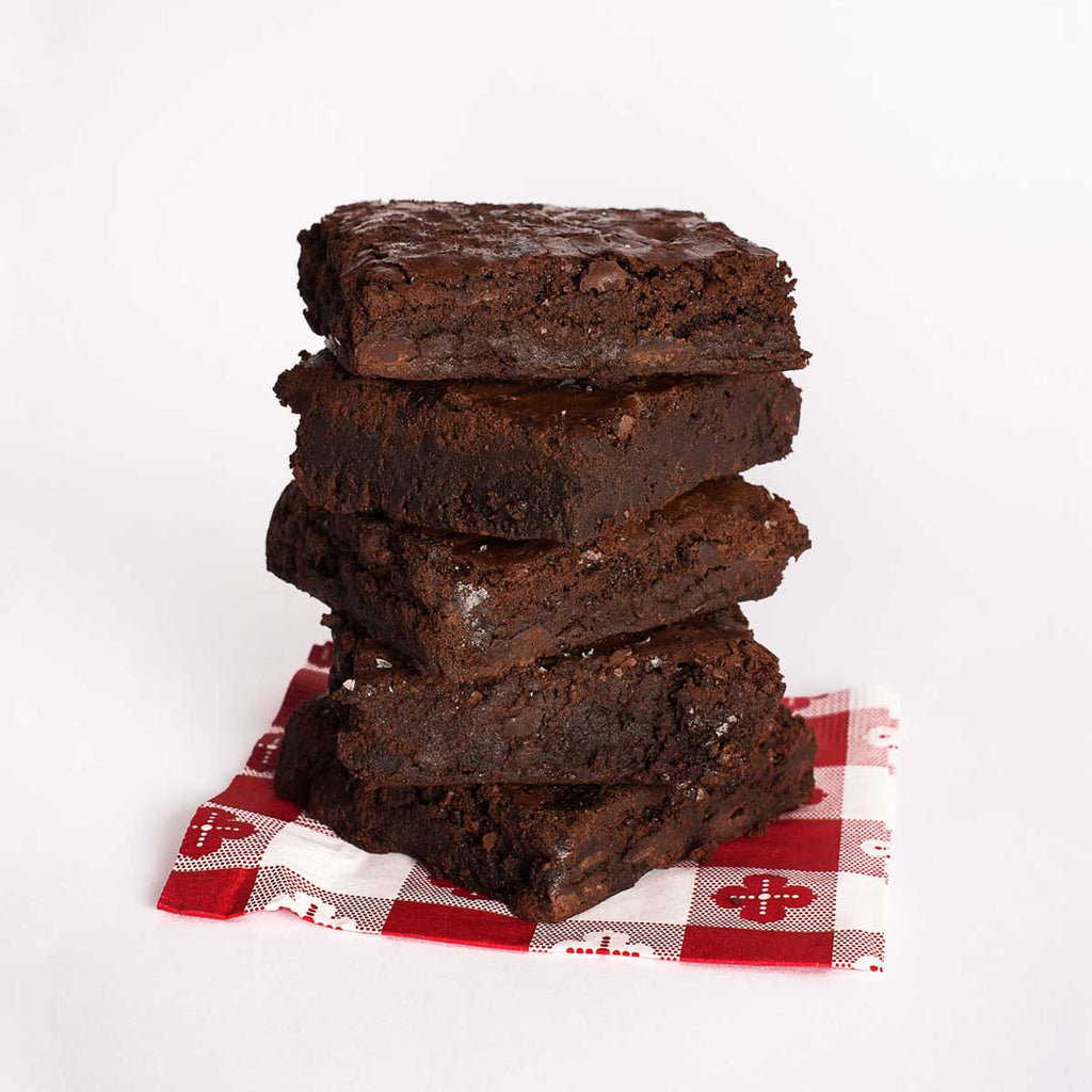 Triple Chocolate Brownies by the Dozen